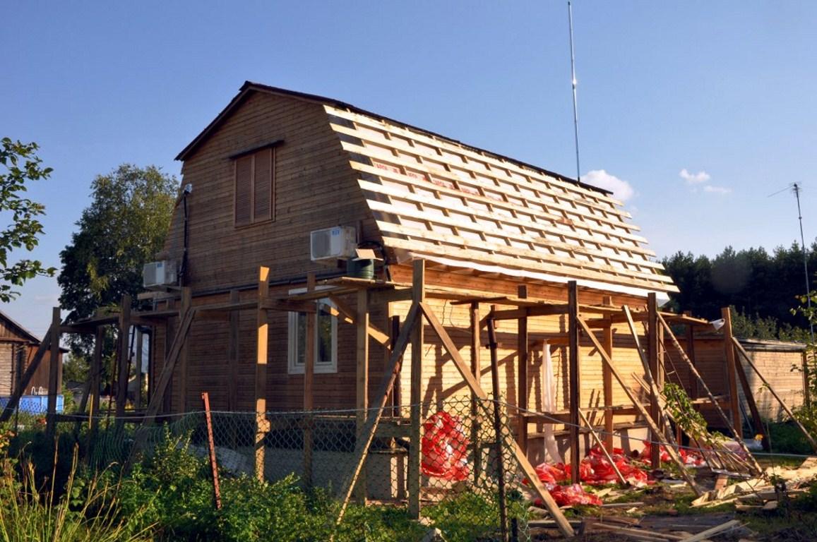 Крыша на дачном доме своими руками 86