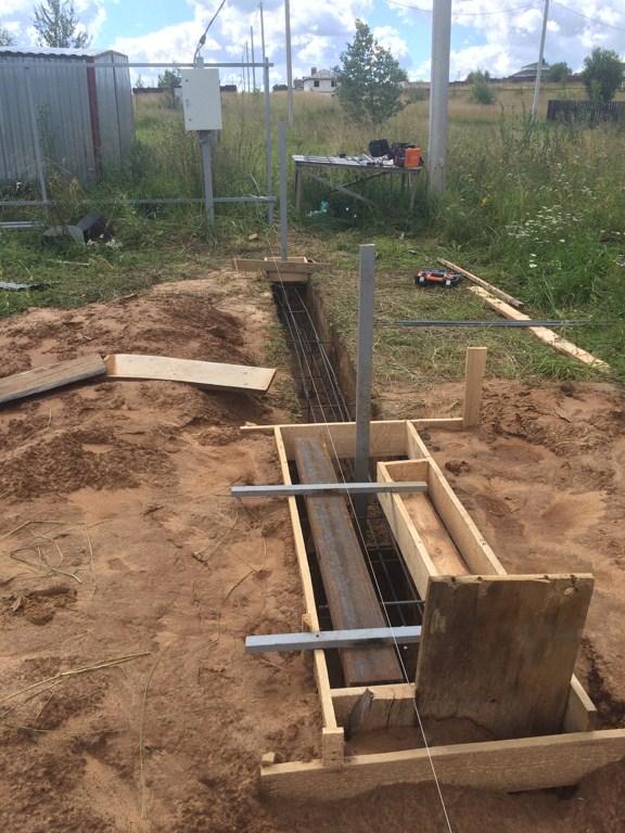 Подготовка к монтажу откатных ворот